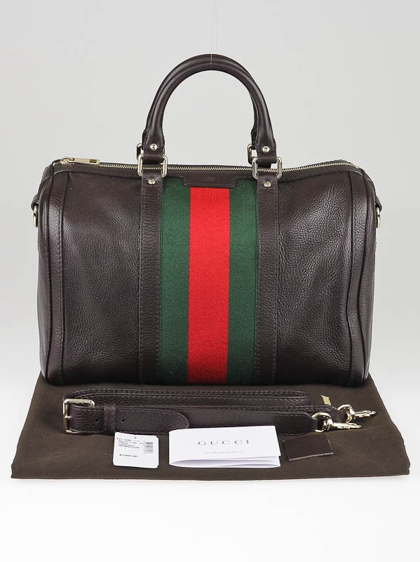 a0e0fd77a45fcf Gucci Vintage Web Medium Boston Bag Leather | Stanford Center for ...