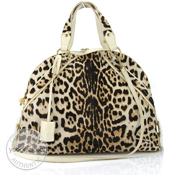 Yves Saint Laurent Snow Leopard XL Muse Bag - Yoogi\u0026#39;s Closet