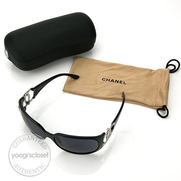 Chanel Sunglasses 6014  chanel black metal cc logo sunglasses 6014 yoogi s closet