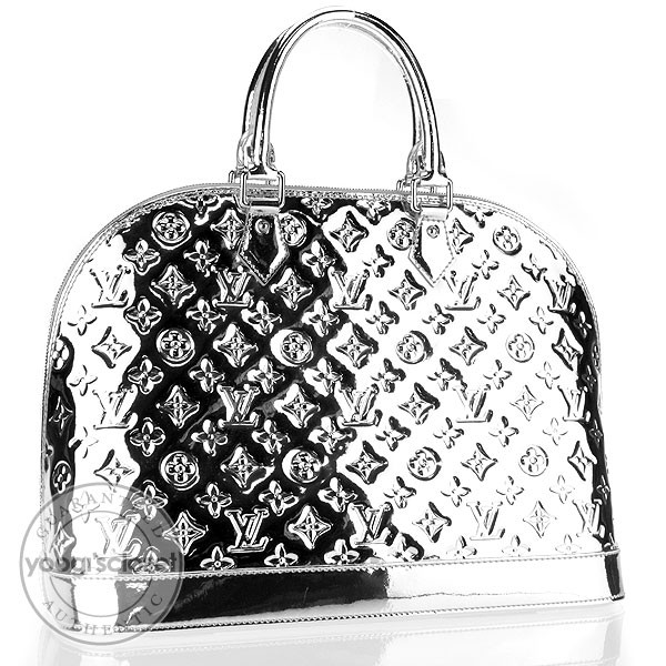 Louis vuitton limited edition silver monogram miroir alma for Louis vuitton silver alma miroir