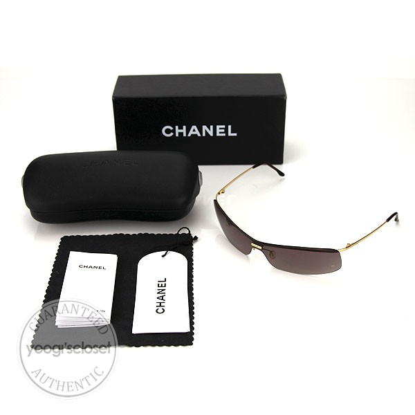 Gold Frame Chanel Sunglasses : Chanel 4043 Gold Metal Frame Brown Lens Sunglasses - Yoogi ...