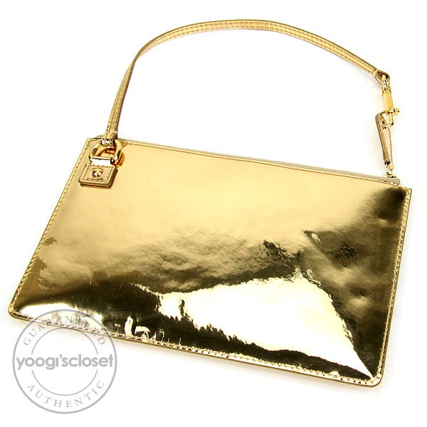 Louis vuitton limited edition gold miroir pochette bag for Louis vuitton gold miroir