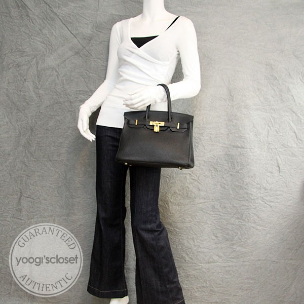 original hermes birkin handbags - Hermes 30cm Black Togo Leather Gold Hardware Birkin Bag - Yoogi\u0026#39;s ...