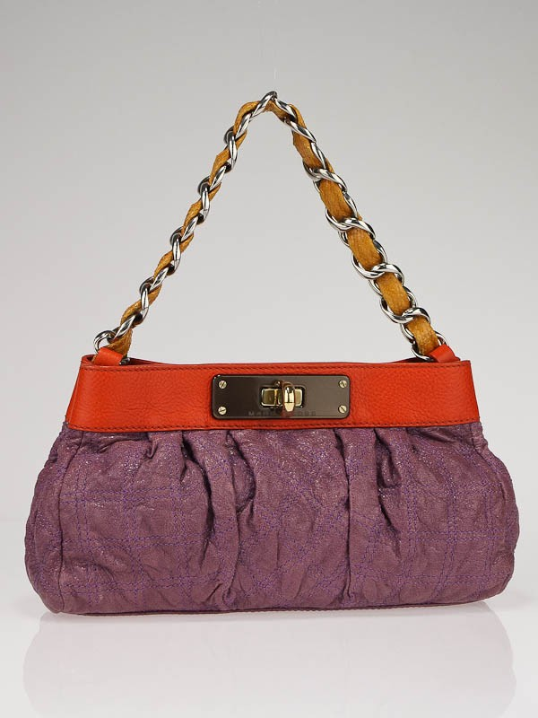 Marc Jacobs Purple Quilted Leather Color-Block Evening Pochette ...