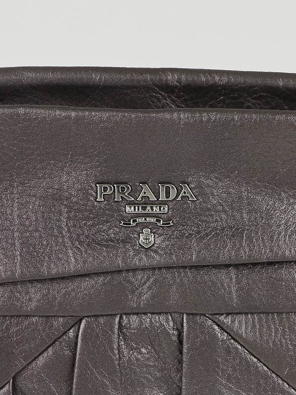 prada grey bag - prada pleated leather clutch, choice designer handbags
