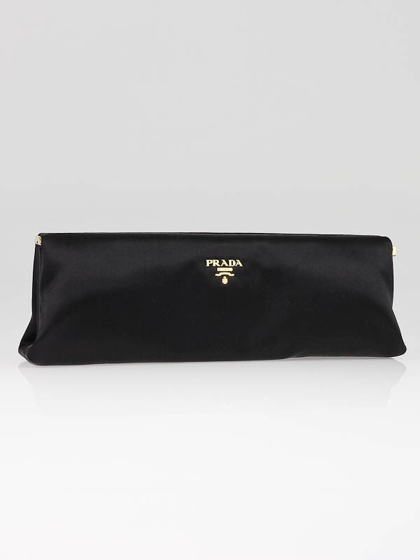 black prada clutch bag