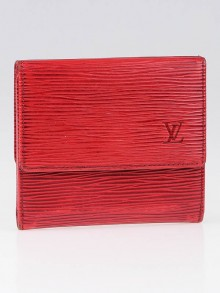 Louis Vuitton Red Epi Leather Compact Wallet