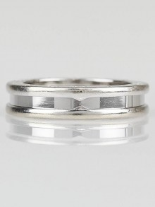 Bvlgari 18k White Gold B.Zero 1 Band Ring Size 6