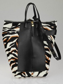 Balenciaga Limited Edition Bergdorf Goodman 111th Anniversary Zebra Calf Hair Kendall Bucket Bag