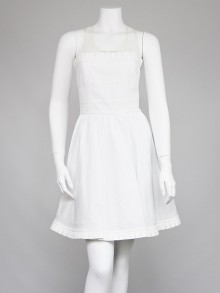 RED Valentino White Taffeta A-Line Dress Size 6/40