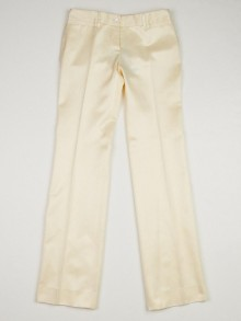 Dolce & Gabbana Pale Yellow Cotton Blend Trouser Pants Size 4/38