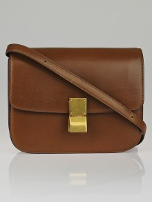 Celine Camel Calf Leather Medium Classic Box Flap Bag