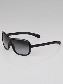 Chanel Black Frame Gradient Tint Chain Sunglasses-6043