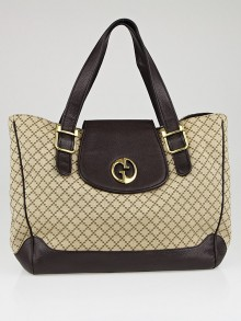 Gucci Beige/Ebony Diamante Canvas 1973 Medium Tote Bag