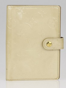 Louis Vuitton Beige Monogram Vernis Small Agenda/Notebook