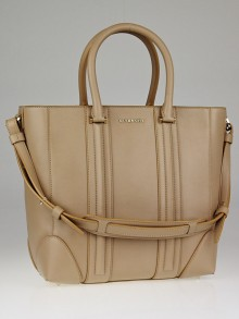 Givenchy Beige Lambskin Leather Medium Lucrezia Tote Bag