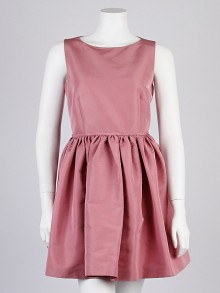 RED Valentino Pink Polyester Sleeveless Party Dress Size 8/42