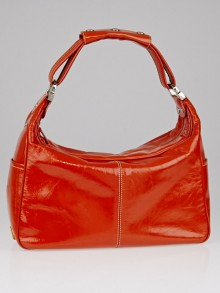 Tod's Orange Patent Leather Shoulder Bag