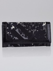 Burberry Black Beat Check Nylon Penrose Continental Wallet
