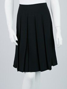 Armani Collezioni Black Polyester Pleated Skirt Size 4/38