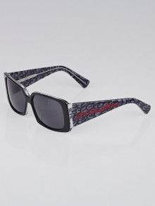 Louis Vuitton Limited Edition Grey Leopard Print Frame Stephen Sprouse Marquise Sunglasses