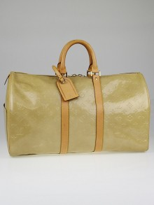 Louis Vuitton Beige Monogram Vernis Mercer Duffel Bag