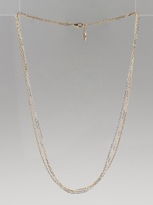 Cartier 18k White/Pink/Yellow Gold Trinity Chain Necklace