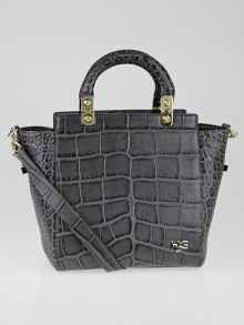 Givenchy Grey Crocodile Embossed Leather Small HDG Tote Bag