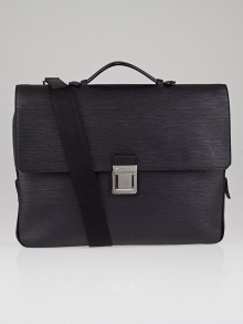 Louis Vuitton Black Epi Leather Vassili PM Briefcase Bag