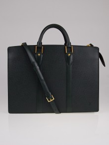 Louis Vuitton Epicea Taiga Leather Lozan Briefcase Bag w/ Long Strap