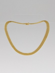 Tiffany & Co. 18k Gold Somerset Mesh Necklace
