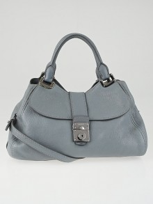 Miu Miu Pervinca Goatskin Leather Madras Sacca 2 Manici Bag