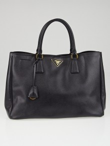 Prada Black Saffiano Lux Leather Large Tote Bag BN1844