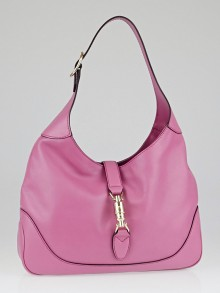 Gucci Pink Leather Jackie Medium Shoulder Bag