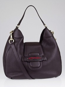 Gucci Brown Leather Dressage Hobo Bag