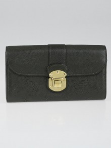 Louis Vuitton Emeraude Monogram Mahina Leather Iris Wallet