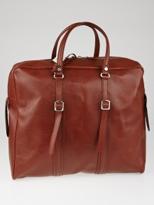 Balenciaga Brown Boar Leather Travel Tote Bag