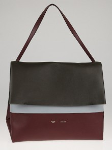 Celine Burgundy/Brown Smooth Calfskin Leather All Soft Shoulder Bag