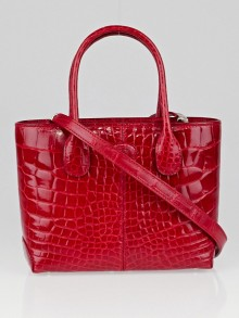 Tod's Red Alligator Classic Mini D Bag