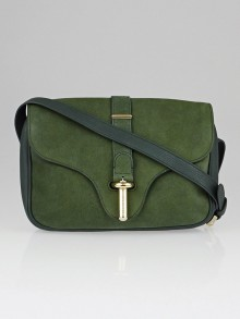 Balenciaga Green Suede/Leather Tube S Shoulder Bag