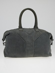 Yves Saint Laurent Lizard Embossed Suede Easy Y Zip Tote Bag