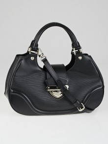 Louis Vuitton Black Epi Leather Sac Montaigne Bag with Strap