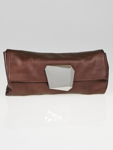 Prada Antico Mordore Vitellino Mordo Leather Clutch Bag BP0227