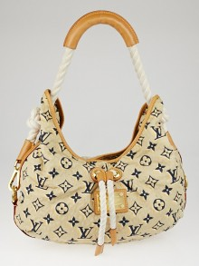 Louis Vuitton Limited Edition Tan Nylon Monogram Bulles MM Bag