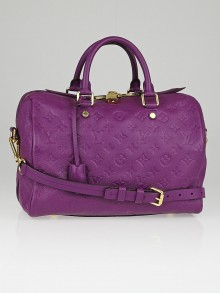 Louis Vuitton Amethyste Monogram Empreinte Leather Speedy Bandouliere 30 Bag
