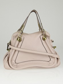 Chloe Light Pink Pebbled Calfskin Leather Medium Paraty Bag