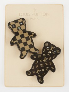 Louis Vuitton Brown Resin Resin Bear Brooch Set