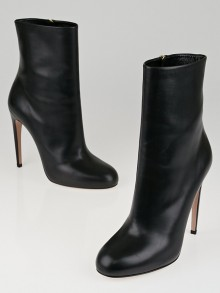 Gucci Black Leather Goldie Ankle Boots Size 9.5/40