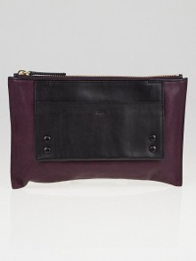 Chloe Purple and Black Leather Alice Clutch Bag