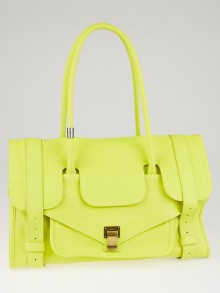 Proenza Schouler Neon Yellow Leather Small PS1 Keep All Bag